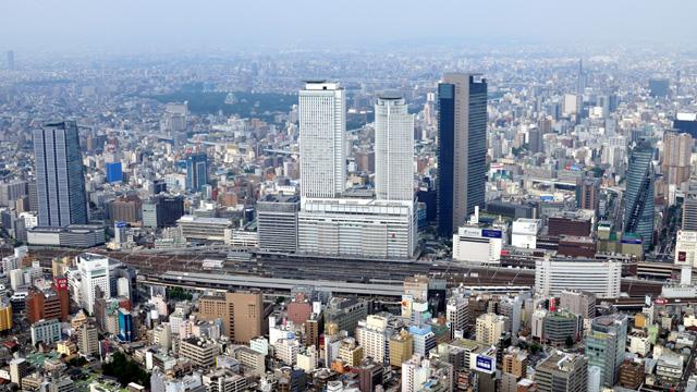 現在の風景 名古屋駅周辺駅西から撮影-名古屋市広報課提供