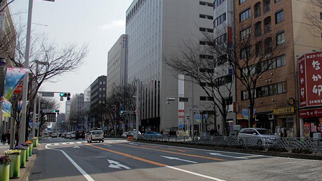 現在の広小路 このあたりに凱旋門が架けられた。
