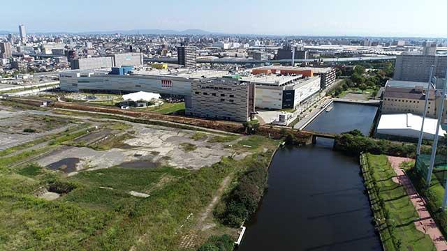 現在の風景 ララポートが建設されている