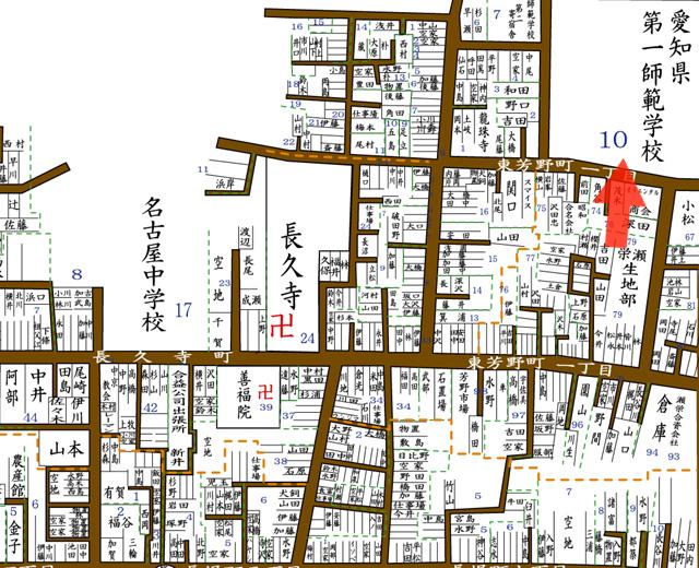 周辺拡大図  昭和8年住宅地図