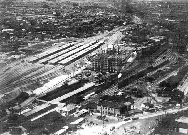 旧名古屋駅と新名古屋駅の建設