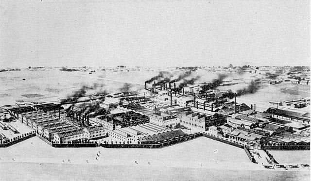 明治37年(1904)、森村市左衛門が日本陶器合名会社を創業。現