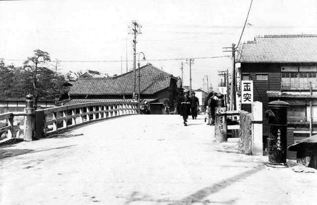 堀川  改修前の日置橋