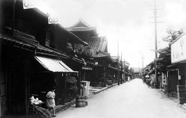 昭和初期の名古屋「東桜町二丁目東を見る」