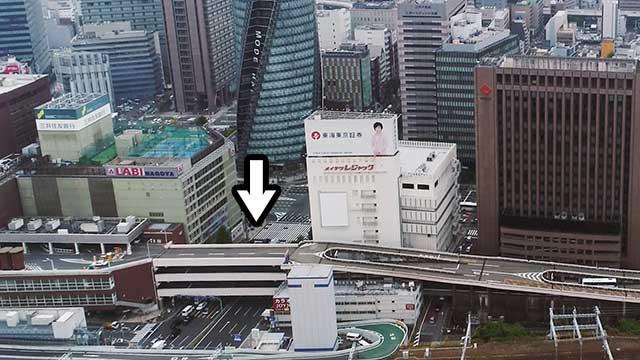 現在の笹島交差点付近