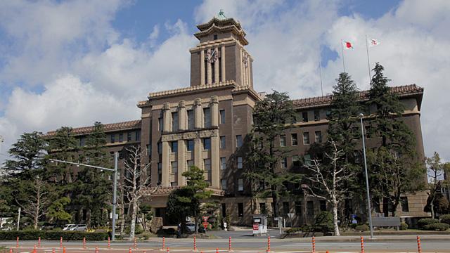 現在の名古屋市役所(中区三の丸)