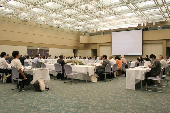 名古屋国際会議場 白鳥ホールでの会議風景