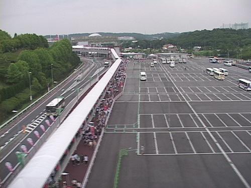 万博開催中の長久手駐車場(2005年)