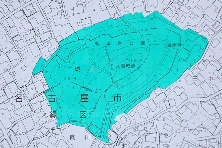 大高城跡案内板地図