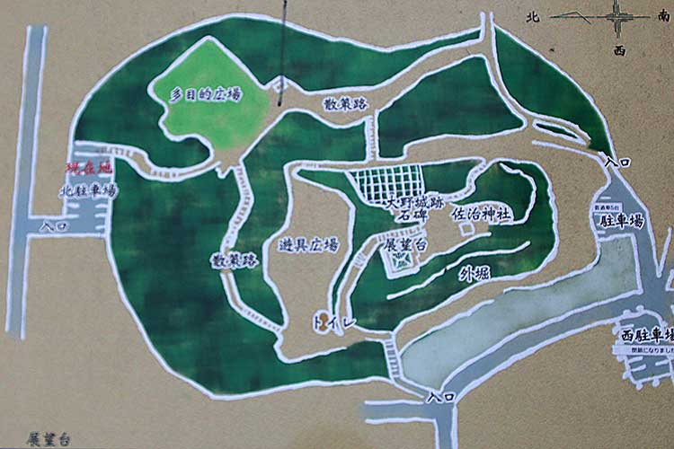 大野城の配置図