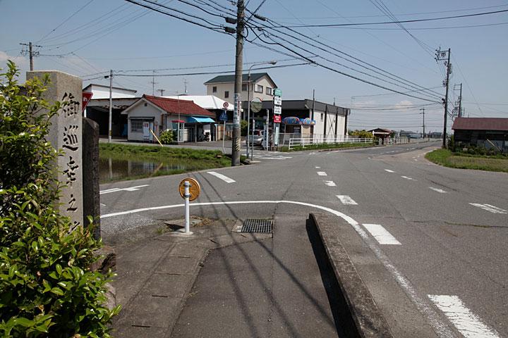 一里塚付近の岐阜街道