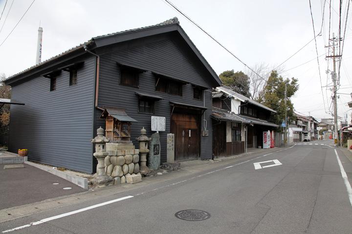 鮎街道の碑・笠松問屋場跡