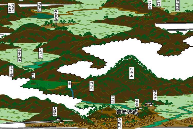 岩崎城周辺図絵(尾張名所図会)