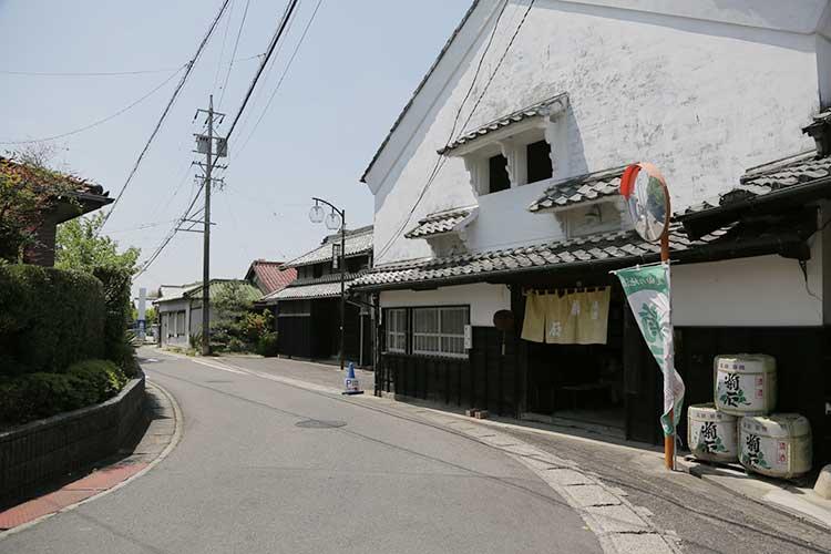 浦野酒造と飯田街道