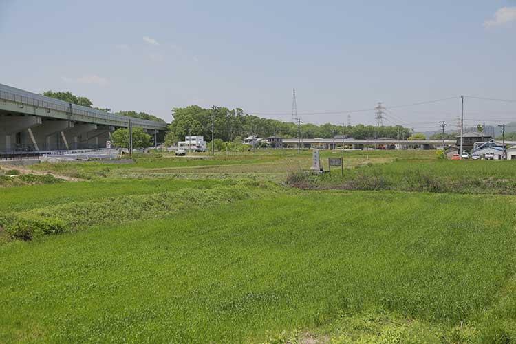 御船城址と東海環状自動車道