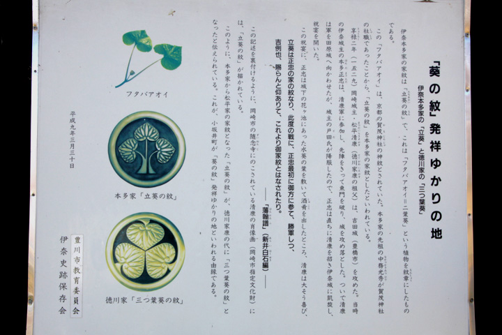 葵の紋」発祥ゆかりの地