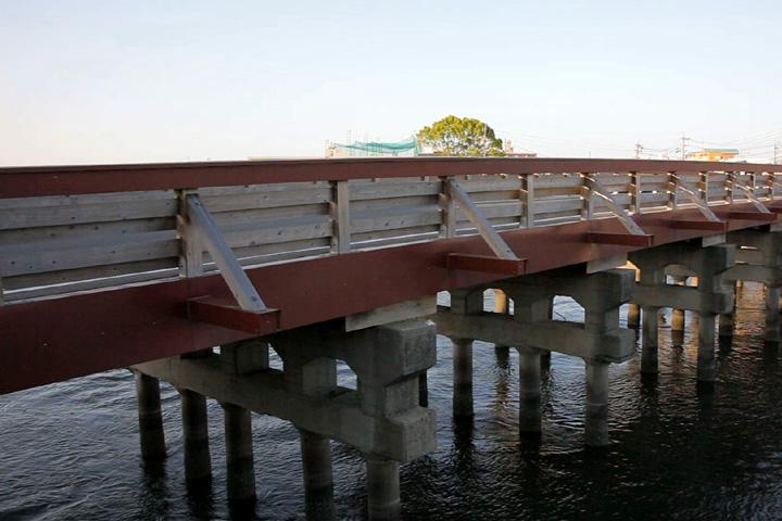 江戸橋 江戸に向かう藩主の見送りもここまでということで江戸橋と命名されたという