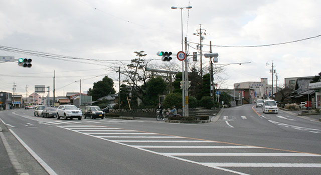 日永追分 東海道と伊勢街道の分岐点