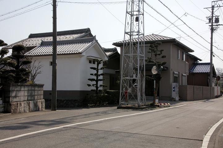 伊勢街道(養老町小倉)