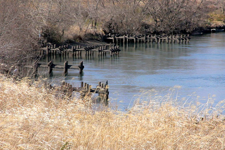牧田川と揖斐川合流点
