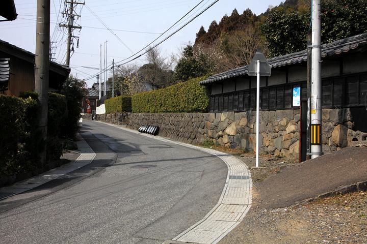 牧田宿中心部
