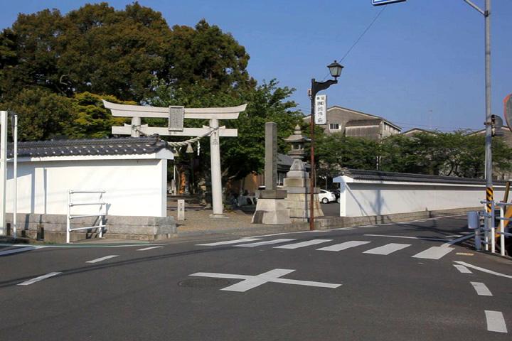 彌都加伎神社と伊勢街道