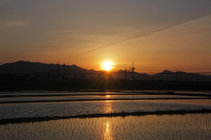 鈴鹿山脈の夕景