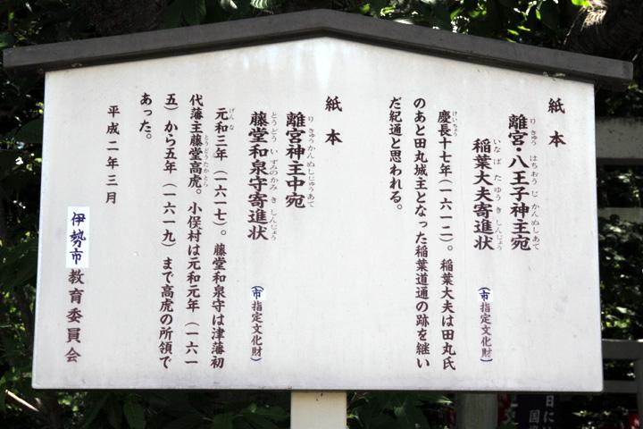祓川 官舎神社案内板