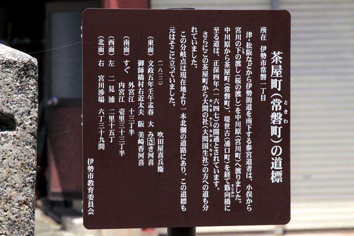 祓川  茶屋町の道標案内板
