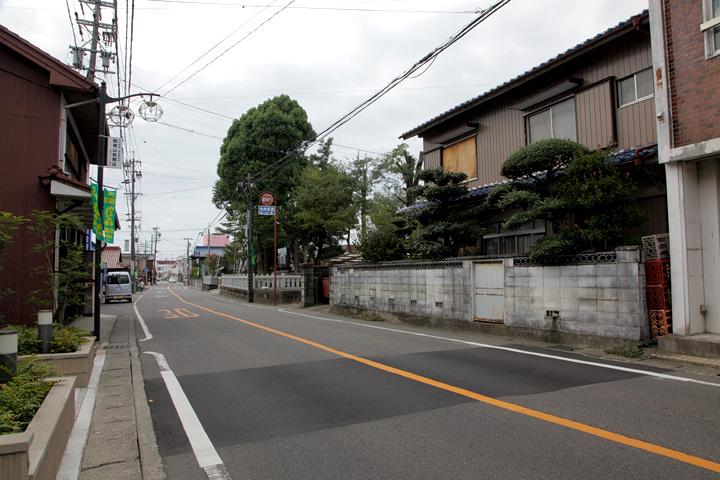 辻の札(高札場跡)付近 伯森神社