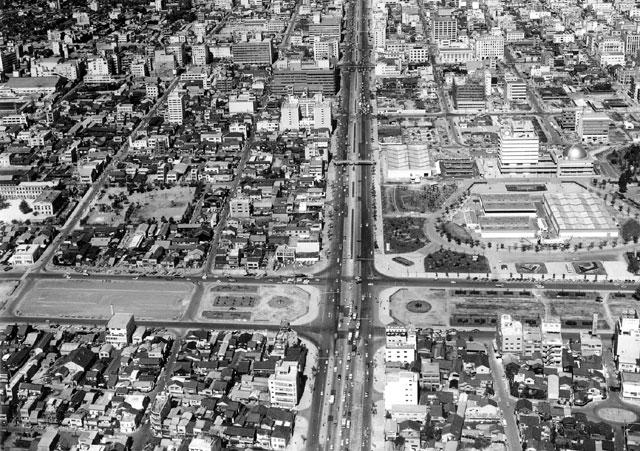 白川公園近辺-昭和30年中頃