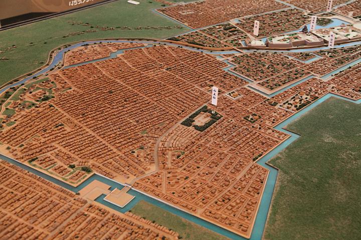 清須城下の模型(場内展示)