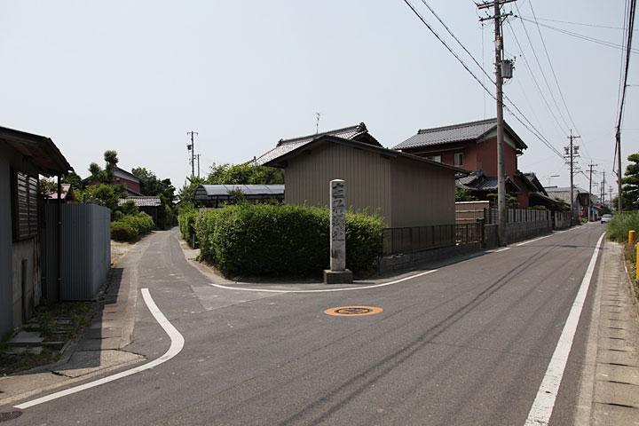 駒塚道と美濃路追分