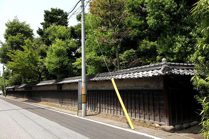 中島邸の塀