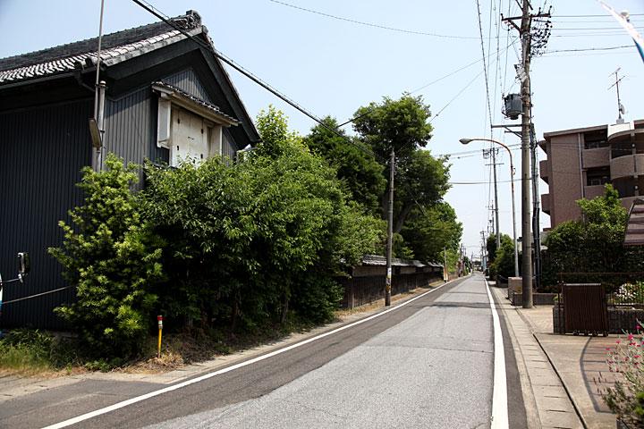 中島邸付近の美濃路