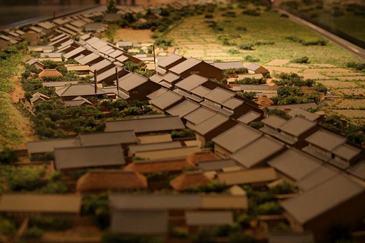 起宿町並みの模型