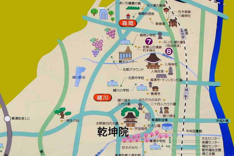乾坤院周辺地図
