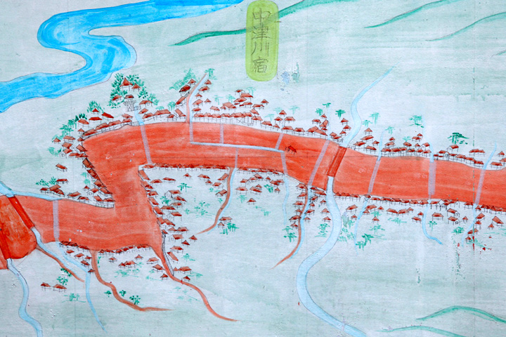 中津川宿図