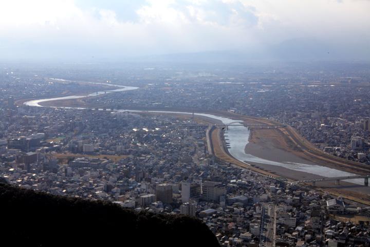 金華山山頂からの風景(長良川)