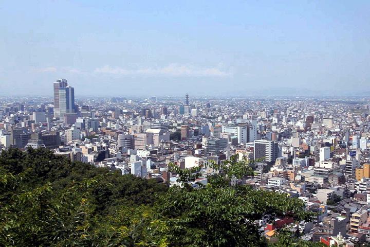 金華山山頂からの風景(岐阜市街)