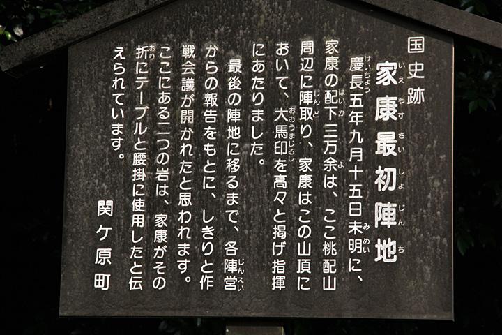桃配山(家康最初の陣)