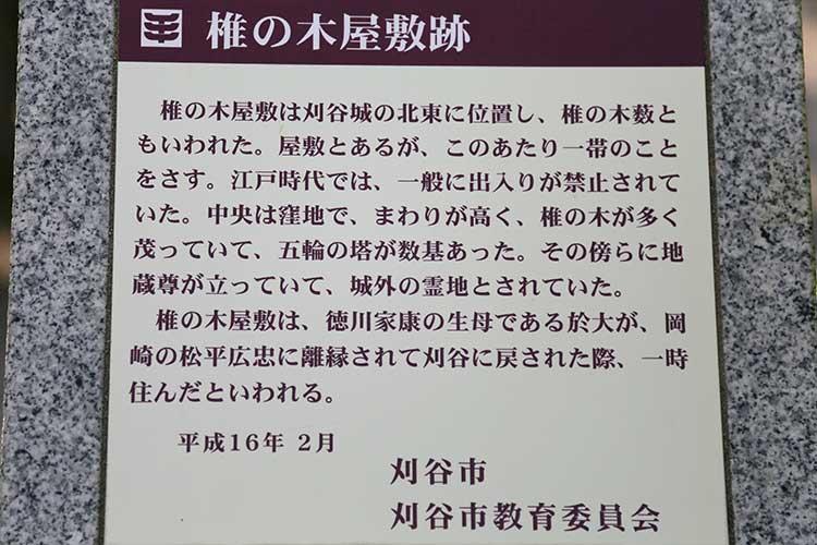 椎の木屋敷跡解説