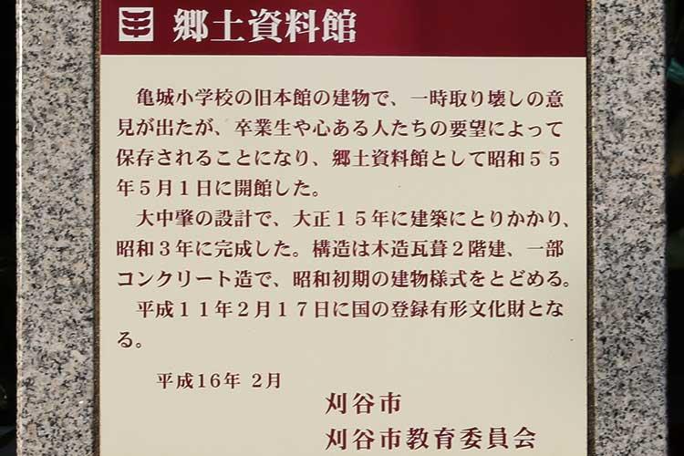 刈谷郷土資料館解説