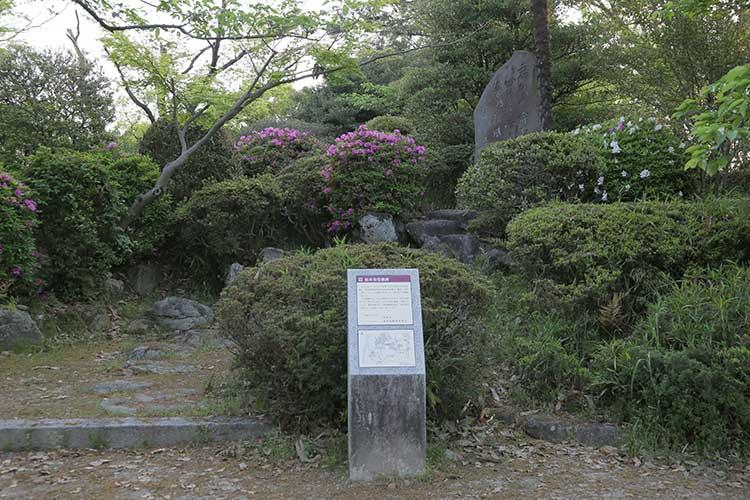 松本奎堂歌碑