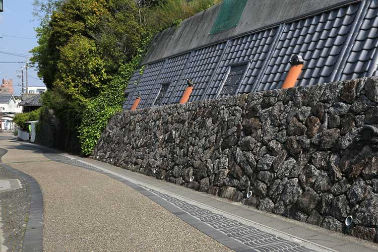 鬼のみち(坂を下り大浜街道と合流)