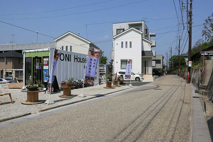 観光案内所と大浜街道