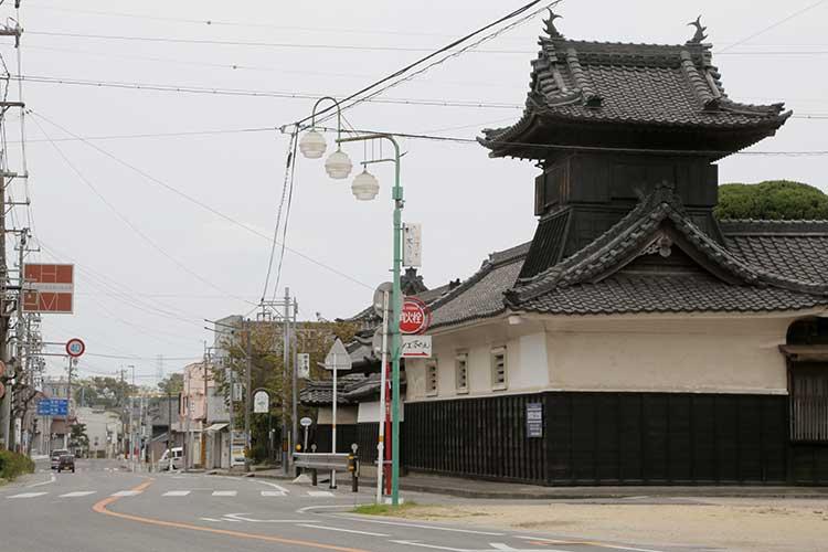 西方寺と大浜街道