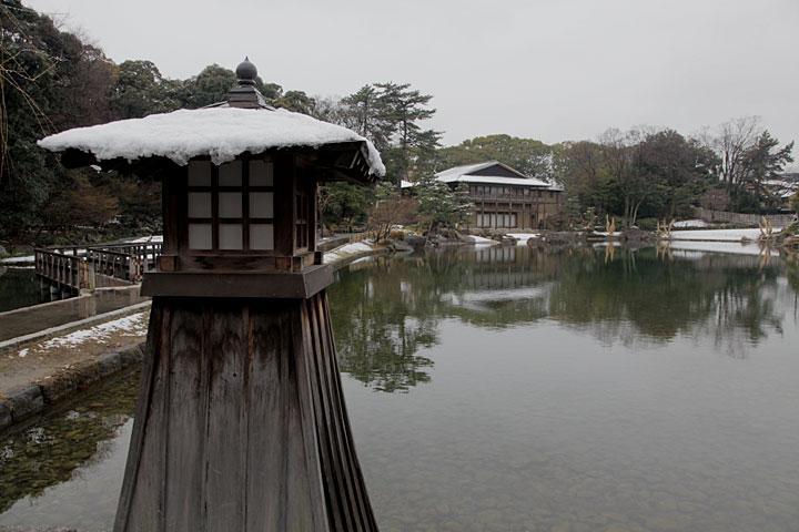 冬の徳川庭園