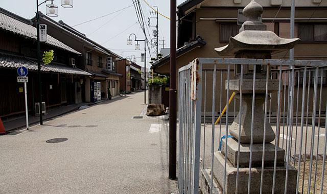 春日井市の中心部を通る下街道