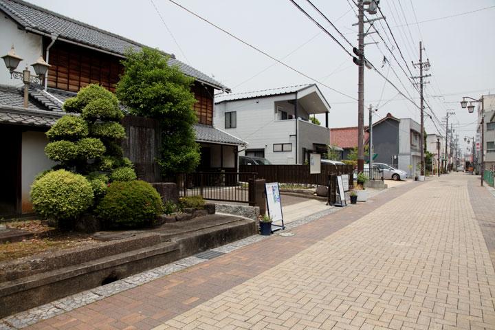郷土館前の下街道